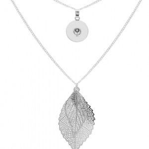 Jewelry - New! Silver Double Leaf Snap Jewelry Necklace